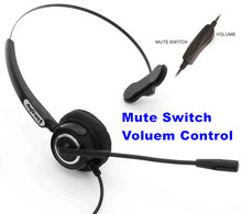 Volume and Mute Headset Headphone with Mic ONLY for CISCO IP Phones 7960 7970 7821 7841 7861 8841 8851,8861 8941,8945,8961 etc(China)