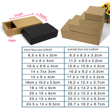 20pcs/lot 6.5/9/14/15cm 8sizes Kraft drawer box, Packaging Essential Oil Perfume bottles DIY comestics, black/brown custom order