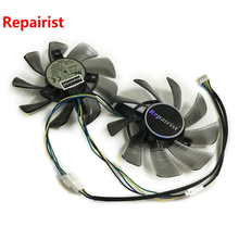 2pcs/lot 4pin 85mm cooler Graphics card fan for REDEON RX 570 GIGABYTE rx570 gaming 4 GB video card GPU cooling(China)