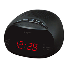 LED AM FM radio digital brand alarm clock backlight snooze electronic  home LCD table clock radio despertador digital led