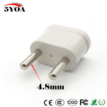 US USA to Schuko EU EURO Europe Travel Power Plug Adapter Charger Converter for USA converter White