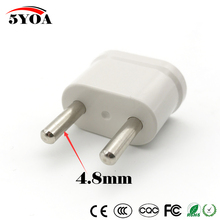 US USA to Schuko EU EURO Europe Travel Power Plug Adapter Charger Converter for USA converter White(China)