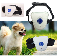 Pet Accessories Training White Electronic Ultrasonic Stop Barking Training Device High Quality Stop Control Barking Dog Collar(China)