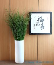 1 PCS Beautiful Artificial Long Thin Leaves Green Plant Plastic Grass Bush Home Decoration F329(China)