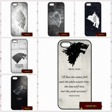 Game Of Thrones House Stark Logo Cover case for iphone 4 4s 5 5s 5c 6 6s plus samsung galaxy S3 S4 mini S5 S6 Note 2 3 4   S0180