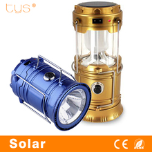 Lanterna Led Torch Flashlight Lamp Hunting Solar Powered flashlights Fishing Camping Blue Portable Collapsible Led Lantern