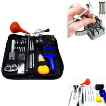 16PCs/Set Professional Watch Repair Tool Kit Portable Watchmaker Pin Remover Hammer Pliers Opener Adjuster Universal Watch Tool(China)