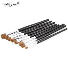 Professional Eyes Makeup Brushes Set 8pcs Nature Hair Eye Shadow Contour Blending Smudge Makeup Tools Kit