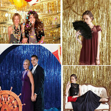 245*92cm Foil Party Door Curtain Tinsel Shimmer Birthday Wedding Decorations Supplies Wedding Party Photo Booth Props GI602693