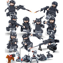 Ghost SWAT Soldier WeaponArmy Navy Seals Marine Building Blocks Figures Bricks Toys For Children Gifts Compatible With Lego
