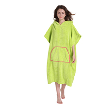 Changing Towel Poncho Robe With Hood One Size Fits All Great For Changing Out Of Your Wetsuitt(China)