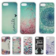 Fashion Bitch Dog Mandala Painted Soft TPU Cover Case For Apple iPhone 7 iPhone7 Plus Silicone Gel Soft Shell Mobile Phone Bags