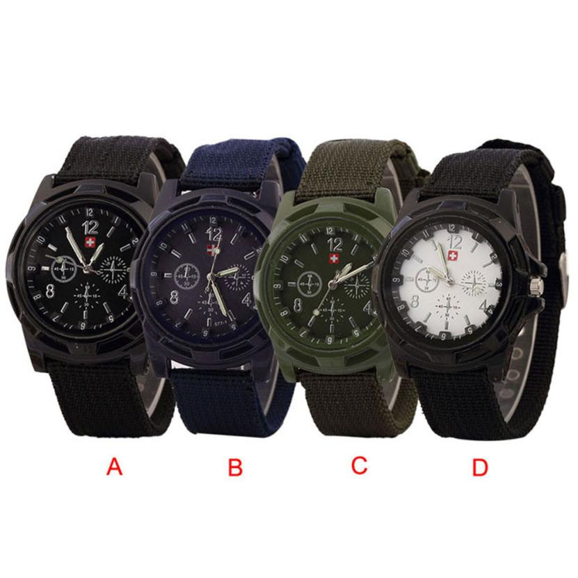 Durable 2016 fashion men watches Solider Military Army Green Dial Army Sport Style Quartz Wrist Watch<br><br>Aliexpress