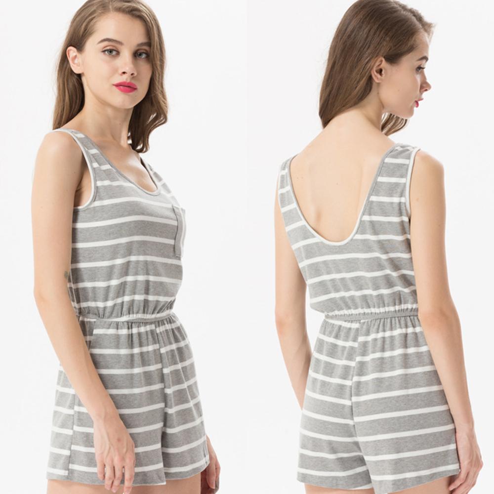 Siskakia mody młodzieżowej Letnie nastolatek dziewczyny Playsuit Przebrania paski patchwork slim fit krótkie elegancki 100% bawełna odzież różowy 20