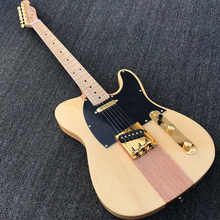 Custom shop Electric Guitar, Solid Basswood & Mahogany body, Gold Hardware, Natural Color High Quality Guitarra(China)