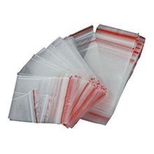 SZS Hot 100Pcs Ziplock Lock Zipped Poly Clear Bags Plastic Zip 5*7CM