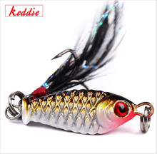 keddie New Arrival 1pc/lot New Fishing Tackle Lead Fishing hard Bait 6.4g 4 colors Fishing lure yj-43(China)