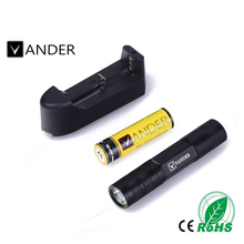 Mini Penlight 1200LM Waterproof Q5 LED Flashlight Torch 3 Modes Aluminium Lantern Portable Light Use 18650 and Charger
