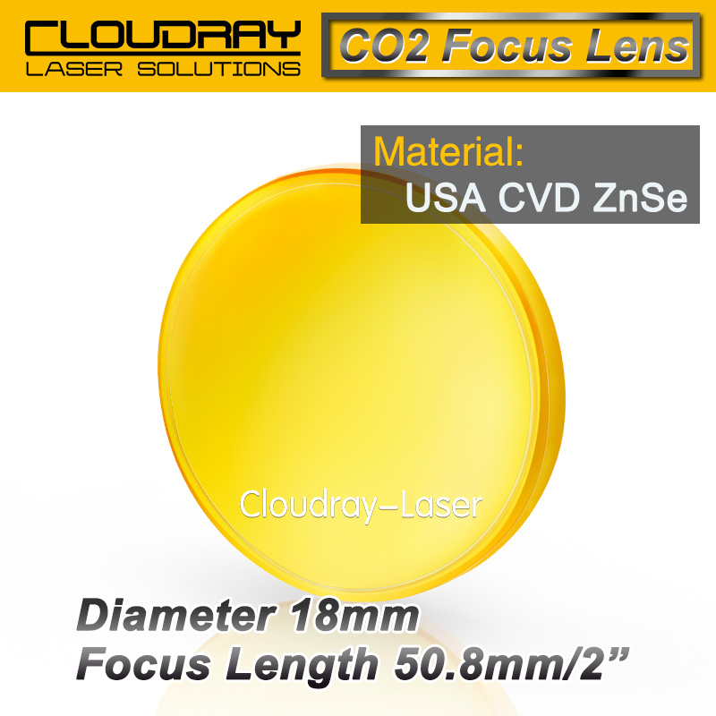 USA CVD ZnSe Focus Lens Dia. 18mm FL 50.8mm 2 for CO2 Laser Engraving Cutting Machine Free Shipping<br><br>Aliexpress