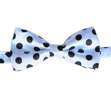 Dotted boys bowties pattern bow ties white tie Print bowtie kids' gift many designs striped