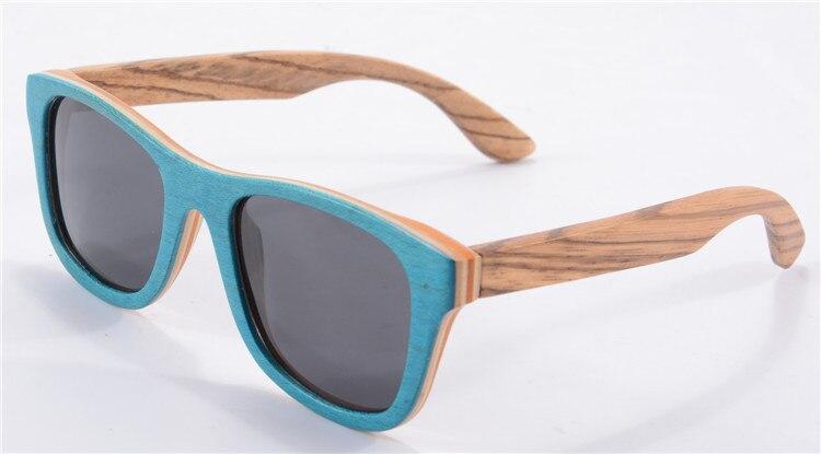 Lunette De Soleil Handmade Skateboard Frame Zebra Temples Wooden Sunglasses Women Men Square Polarized Glasses Oculos De Sol<br><br>Aliexpress