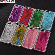 2017 Fashion Colorful sequins Dynamic Liquid Glitter meteor sand Clear Hard Shell Mobile Phone Cases For iphone4s/5SE/6 6s/7Plus(China)