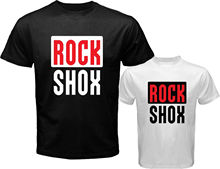 2017 New Arrivals Men'S Rock Shox Logo Moutain Mtb biker Bicycle  Design T Shirt Hot Sales Tops Who Printed Short Sleeve Tees