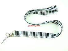 Wholesale 10 Pcs popular cartoon piano keyboard Neck Straps Lanyards Mobile Phone,ID Card,Key Condole belt Mixed L176