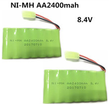 2pcs 8.4V 2400mah ni-mh battery pack AA rechargeable battery remote control electric toy car model(China)