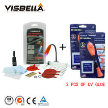 2PCS Visbella Super 5 Second Fix Uv Light Repair Tool With Glue and Car Windscreen Glass Repair kits for Auto Windshield Scratch
