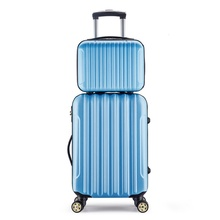 NEW Fashion Cheap 14,20,24 Inch,Spinner Wheel Rolling Luggage Set ,ABS,Travel Suitcase,Women Bag Boarding Box Handle Card