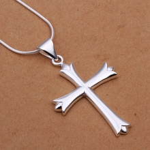 Buy wholesale fine 925-sterling-silver necklace fashion jewelry chain cross necklaces & pendants women men collar SN290 for $1.31 in AliExpress store