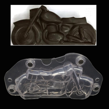 3D Motorcycle Chocolate mold DIY Handmade Cake Plastic Polycarbonate Autobike Chocolate Making Tool Cake Decorating molds