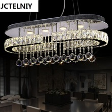 Fashion crystal pendant light modern brief restaurant pendant light rectangle personalized child lamp(China)