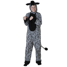Kids Unique Striped Zebra Costume Children Black White Cosplay Holiday Halloween Outfit