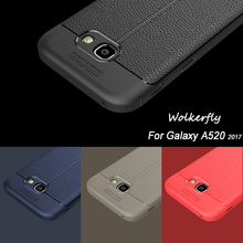 Luxury Soft TPU Case for Samsung galaxy A5 2017 Leather Design Protective Back Cover for Samsung A5 2017 A520 Phone Case(China)