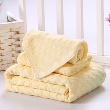 Baby Yellow 100% Bamboo Fiber Bath Towel Sets for Bathroom Absorbency 1 Bath Towel 70x140cm 2 Hand Towels 33x72cm Best Selling