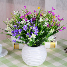 Pretty Artificial Flower Plastic Gladiolus Bouquet Silk Flower Home Tea Table Office Decor Wedding Decoration(China)