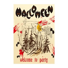 Welcome To Halloween Party Garden Flag Designed With Double Sided Printing Decorative Flags Outdoor And Indoor Banners