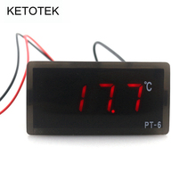 PT-6 Embedded Digital Temperature Meter -40~110C Vaccine Box Thermometer with 2m Temperature Sensor(China)