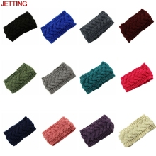 JETTING-1Pc Plum Knit Headband Chunky Knit Headband Ear warmer Knit Wool Headband For Women Girl Fall Winter Accessories 10Color