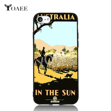 Australia in the Sun sheepherder Sheep Travel For iPhone 5s SE 6 6s 7 Plus Case TPU Phone Cases Cover Mobile Decor Gift