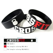 4 Pcs CROSSFIT Workout Kettlebell Bracelet CrossFit Wristband Fitness Apparel Workout Clothing, Silicon Bracelet Band