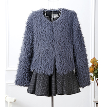 2016 new Autumn and Winter women's fashion fur coat female faux fur coats female elegant grass outwear imitation fur jackets(China)