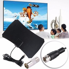 Mini Digital HDTV Freeview Indoor TV Antenna Stick For DTMB ATSC ISDB-T DVB-T with TV Aerial Amplifier 50 Mile Range EU/AU Plug(China)