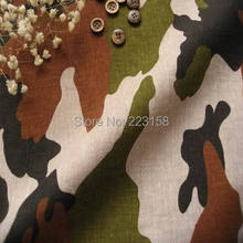 four colors for choice,Canada fabric,high quality,Fluid printed cloth home clothes handmade ,Camouflage series for diy(China)