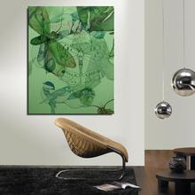 Fly insect Moth Animal Traditional Chinese Home decor Spray Canvas Oil painting Frameless drawing straw scarf picture