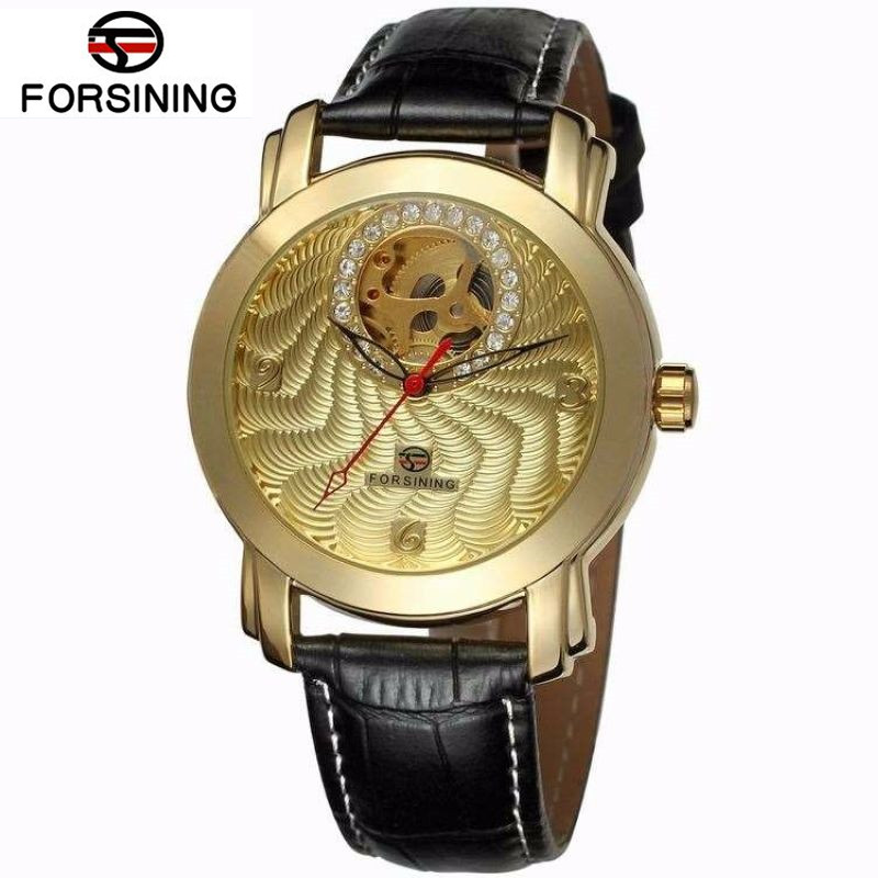 2017 FORSINING Relogio Masculino New Cool Hollow out Watch Mens Auto Mechanical Watches Wristwatch Free Shipping<br><br>Aliexpress