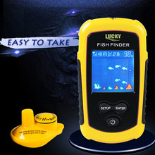 125KHz portable great fish finder Wireless Sonar Fish Finder River Lake Live Depth Contour Waterproof Sensitive Fishfinder(China)