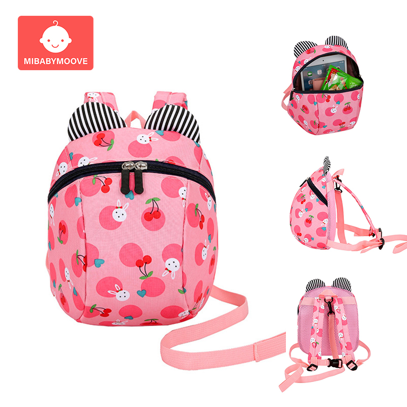 Toddler Kids Child Schoolbag Cute Dinosaur Harness Leash Shoulder Bag Backpack